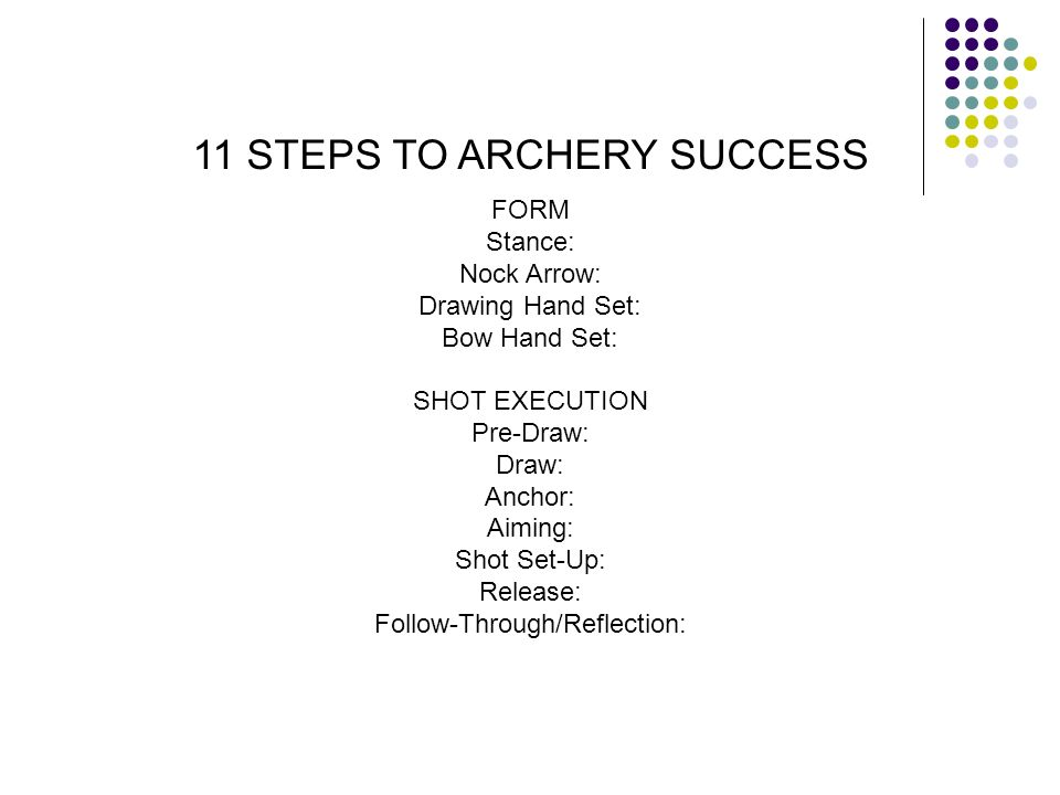 11 STEPS TO ARCHERY SUCCESS