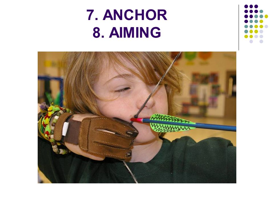 7. ANCHOR 8. AIMING
