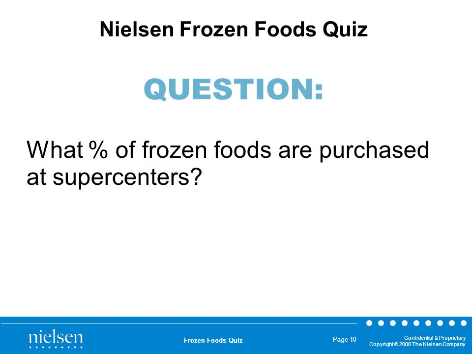 What % of frozen foods are purchased at supercenters
