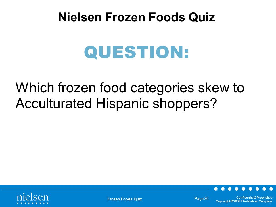 Which frozen food categories skew to Acculturated Hispanic shoppers