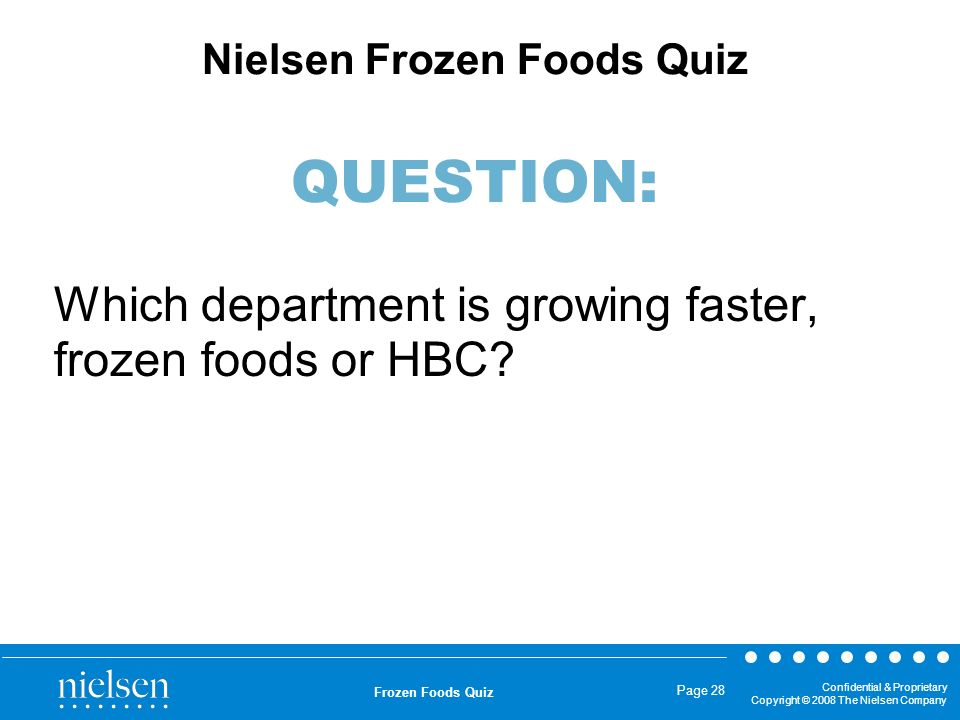 Which department is growing faster, frozen foods or HBC
