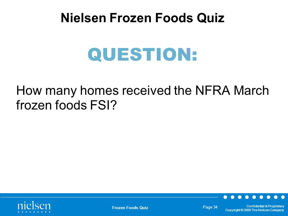 How many homes received the NFRA March frozen foods FSI