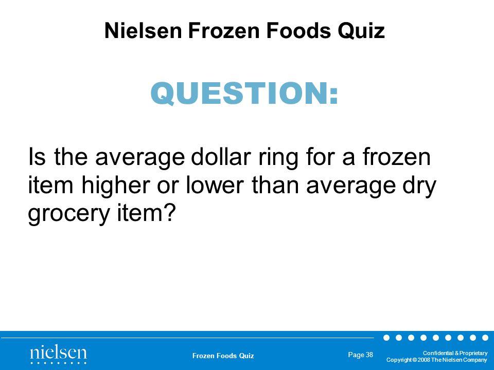 Nielsen Frozen Foods Quiz QUESTION: