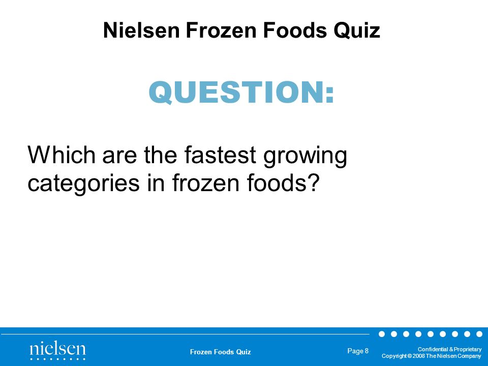 Which are the fastest growing categories in frozen foods