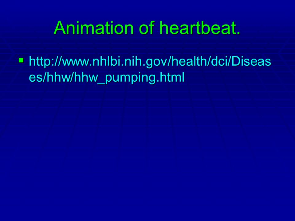 Animation of heartbeat.