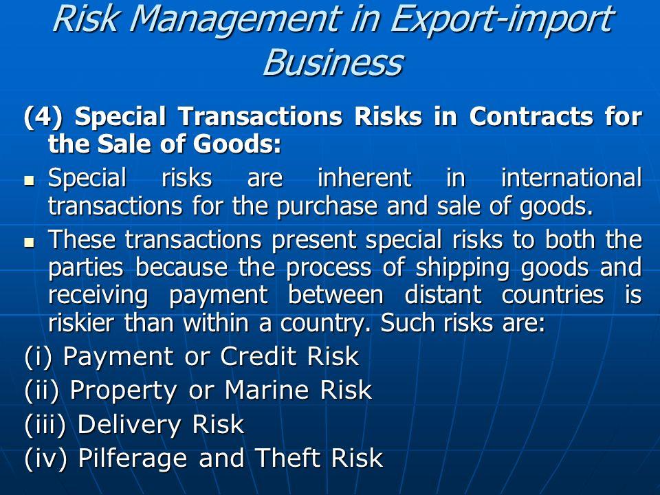 Risk Management in Export-import Business