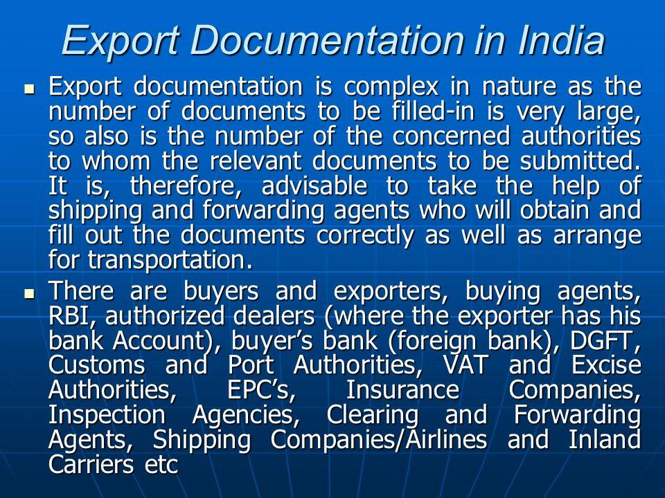 Export Documentation in India