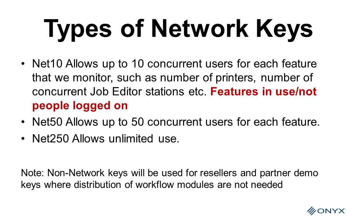 Types of Network Keys