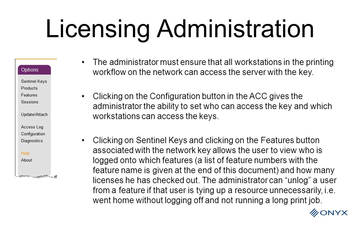 Licensing Administration
