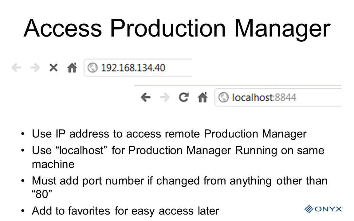 Access Production Manager