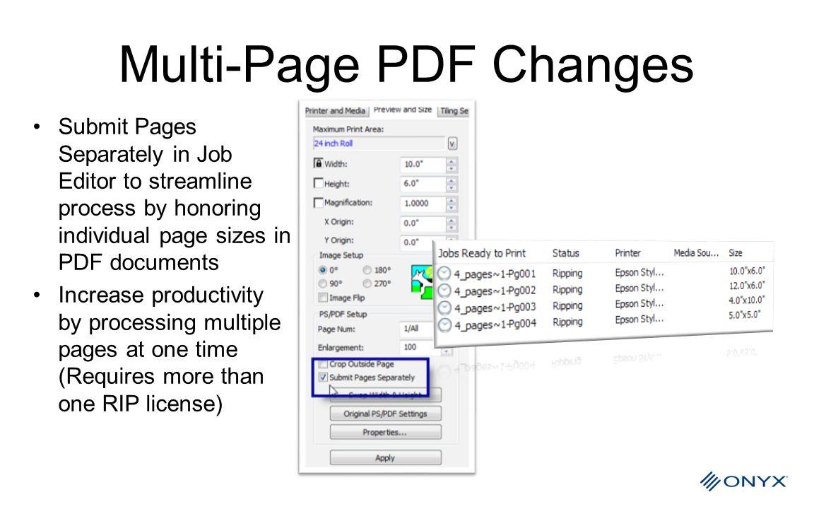 Multi-Page PDF Changes