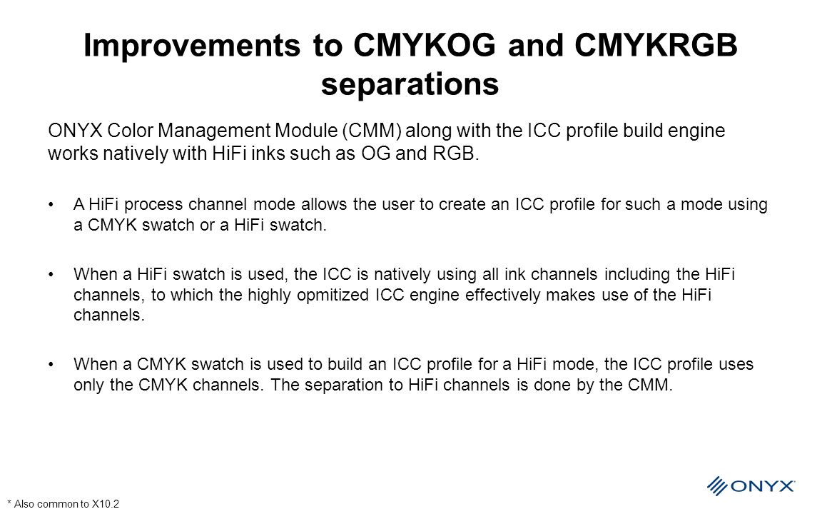 Improvements to CMYKOG and CMYKRGB separations