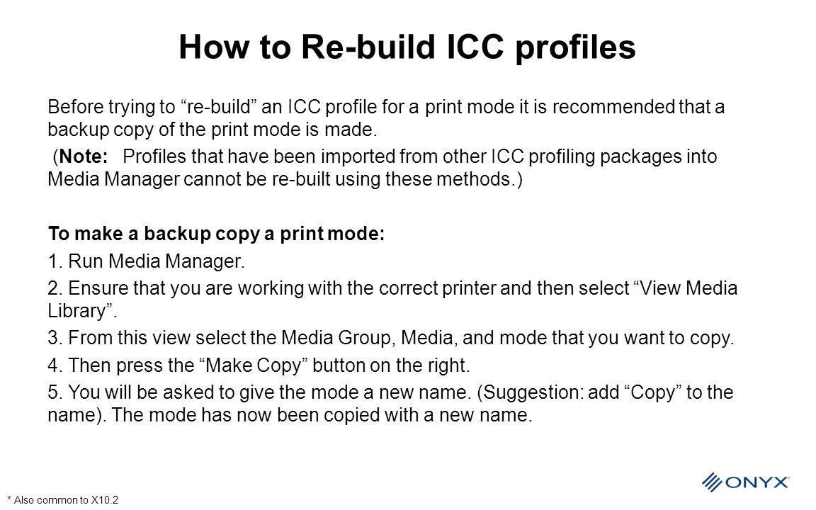 How to Re-build ICC profiles