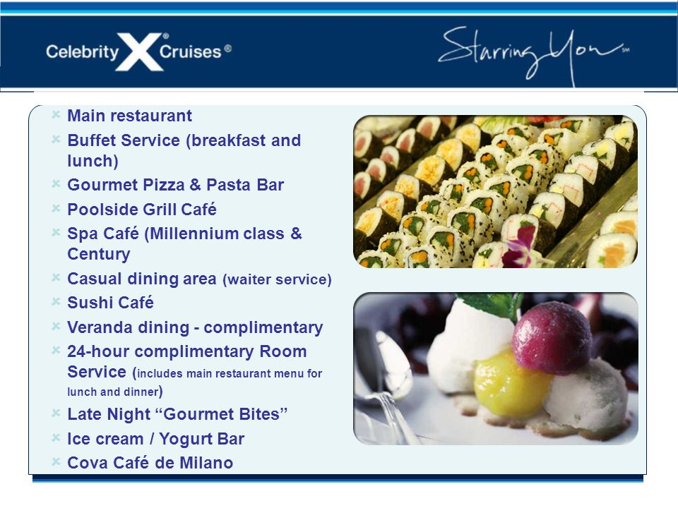 Extensive Dining Venues