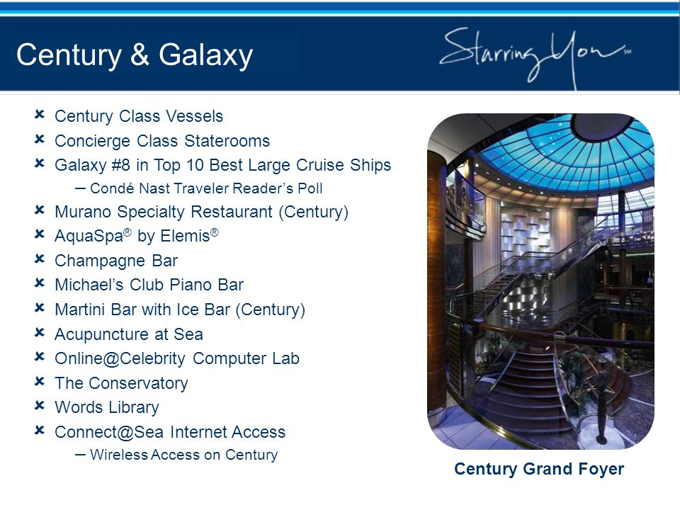 Century & Galaxy Century Class Vessels Concierge Class Staterooms