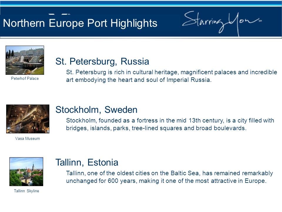 Northern Europe Port Highlights
