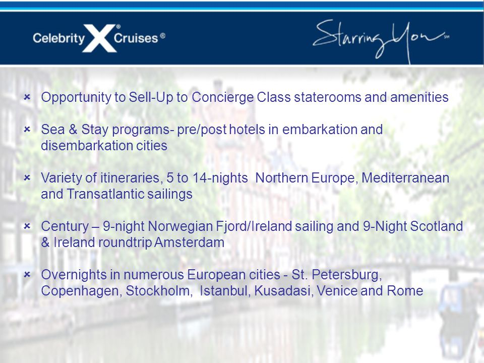 Europe Key Selling Points