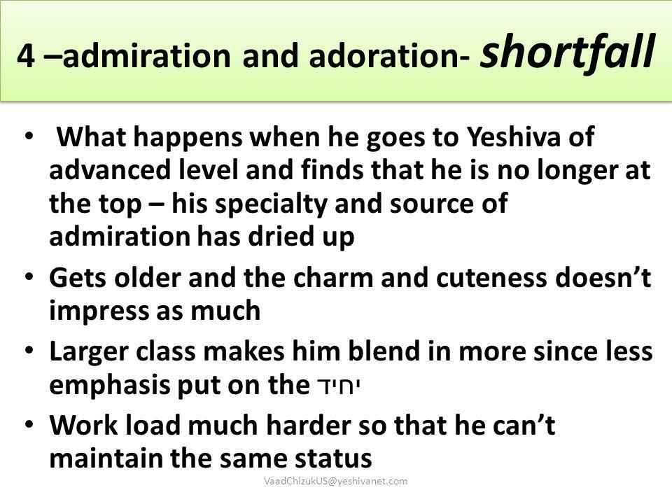 4 –admiration and adoration- shortfall