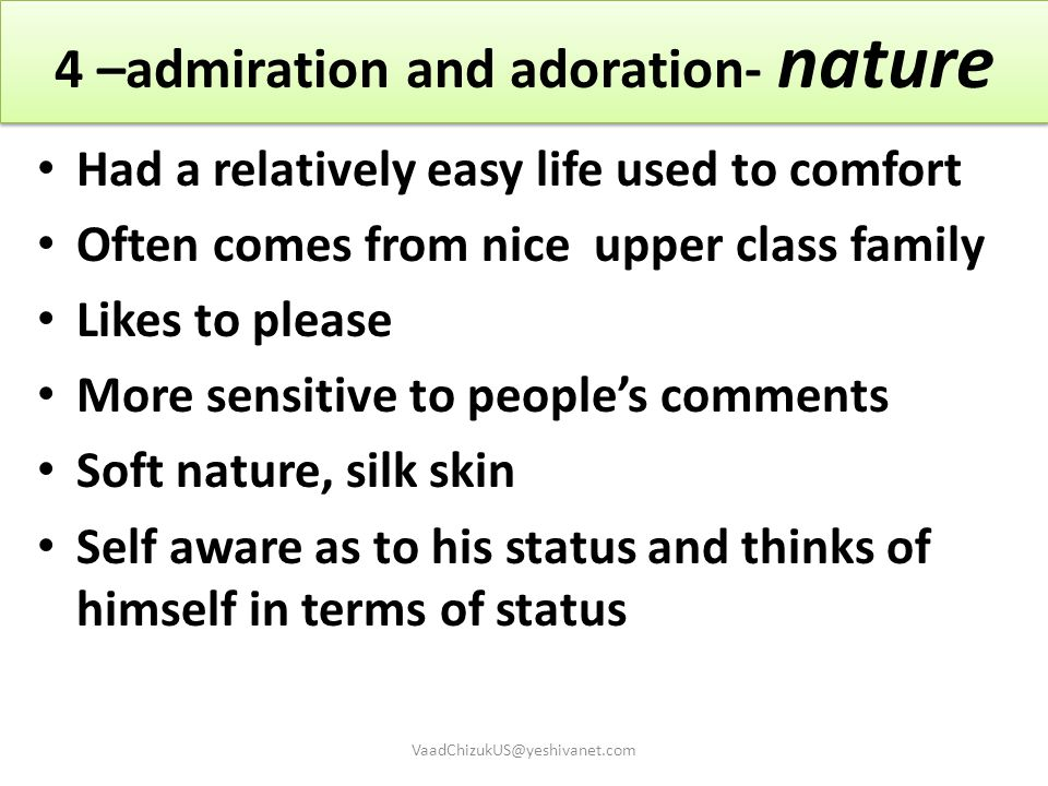 4 –admiration and adoration- nature