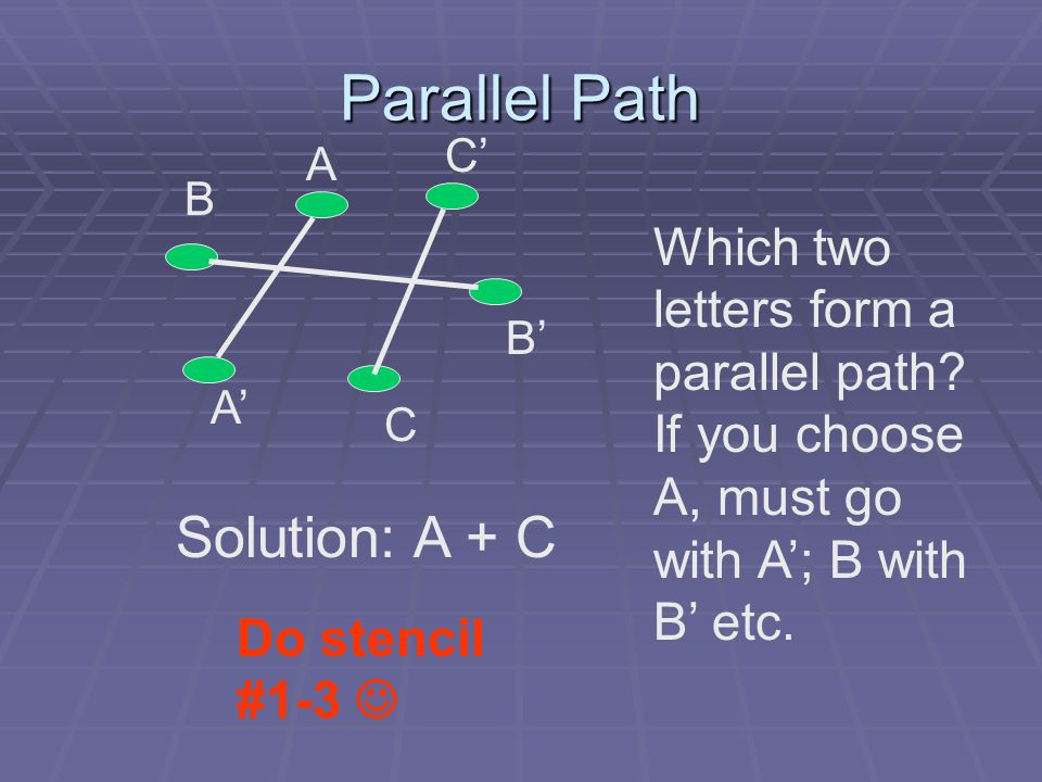 Parallel Path Solution: A + C