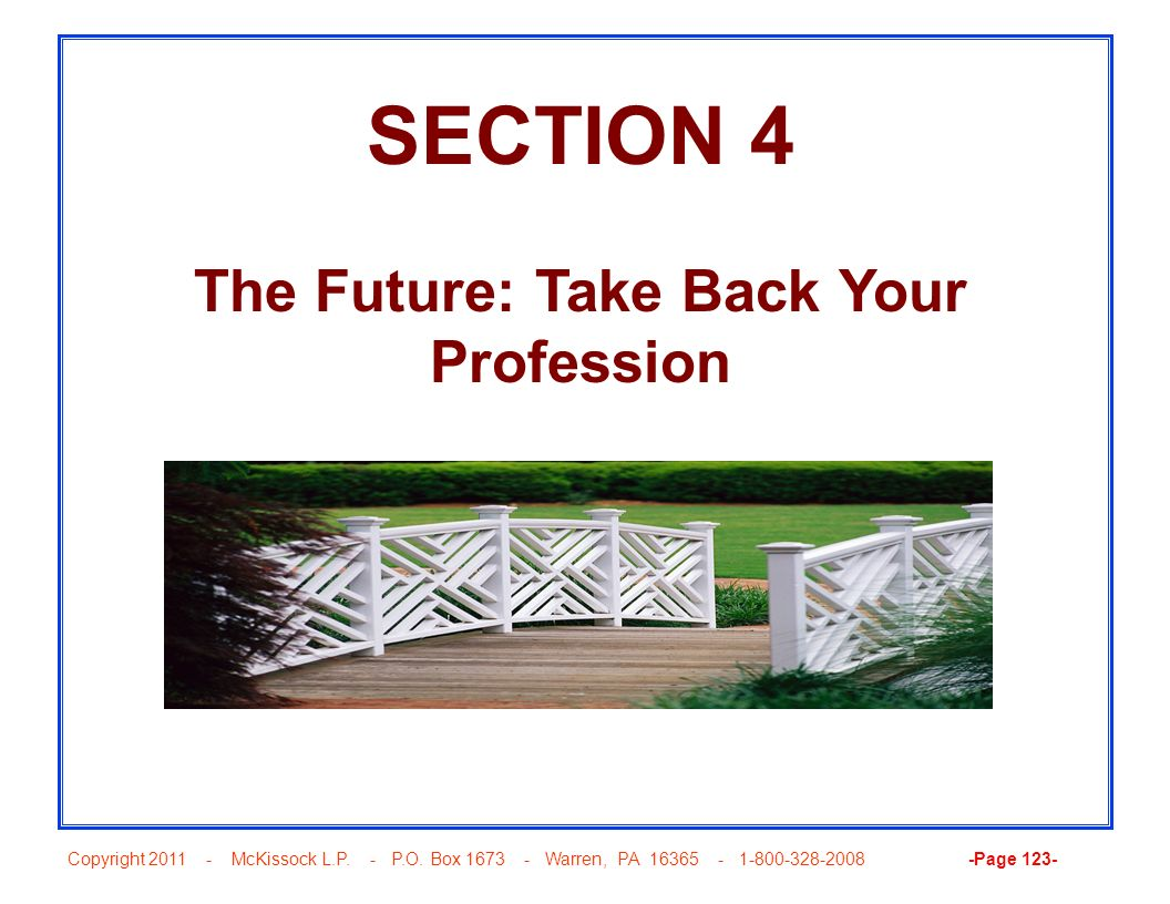 The Future: Take Back Your Profession