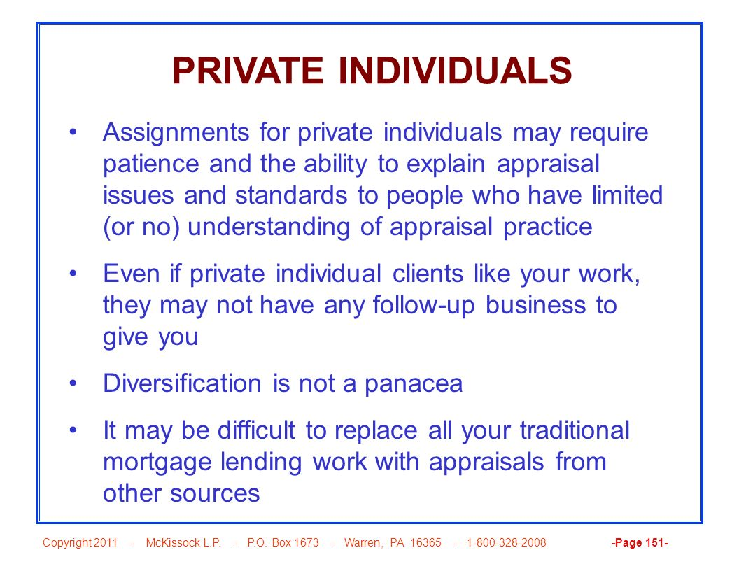 PRIVATE INDIVIDUALS