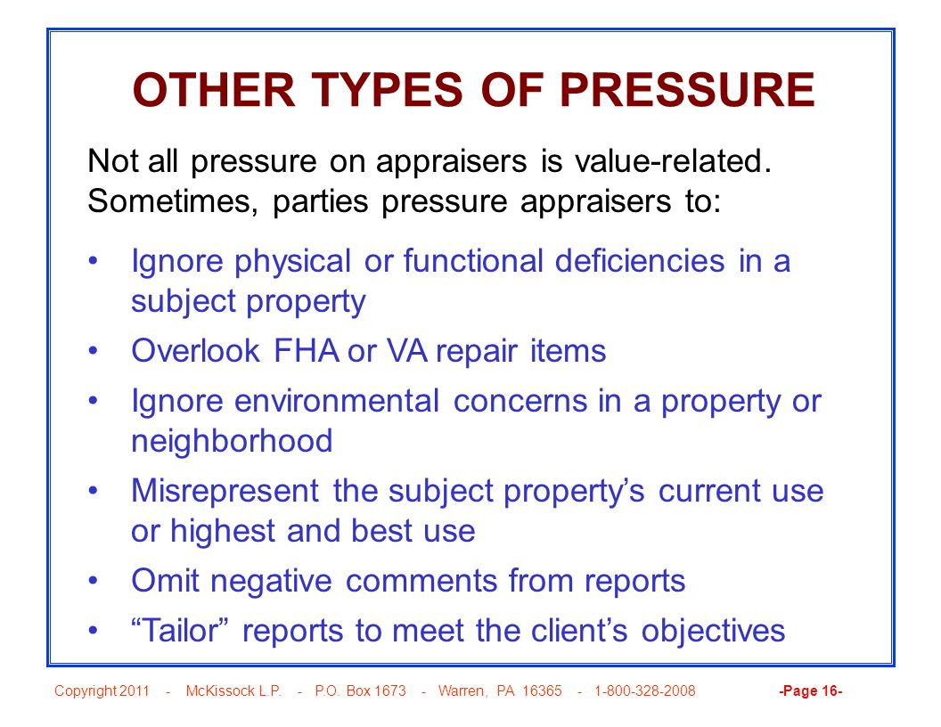 OTHER TYPES OF PRESSURE