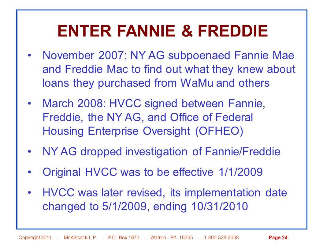 ENTER FANNIE & FREDDIE
