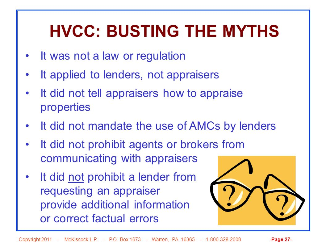 HVCC: BUSTING THE MYTHS