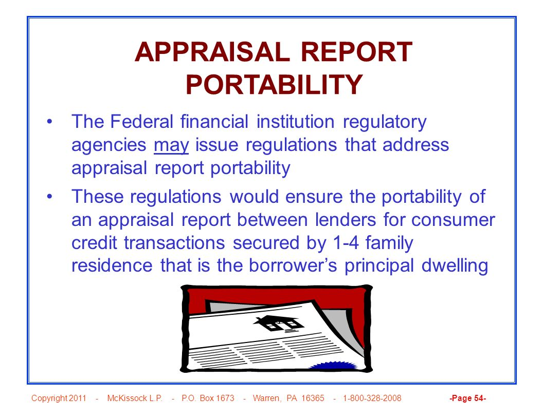 APPRAISAL REPORT PORTABILITY