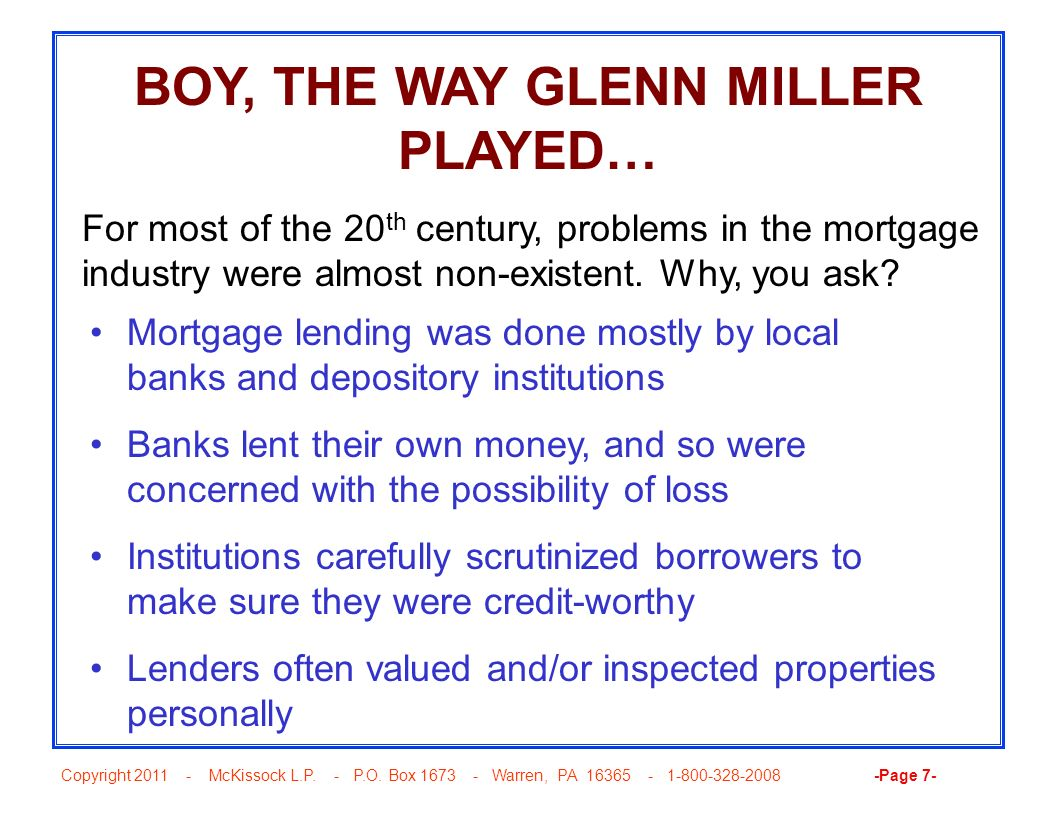 BOY, THE WAY GLENN MILLER PLAYED…