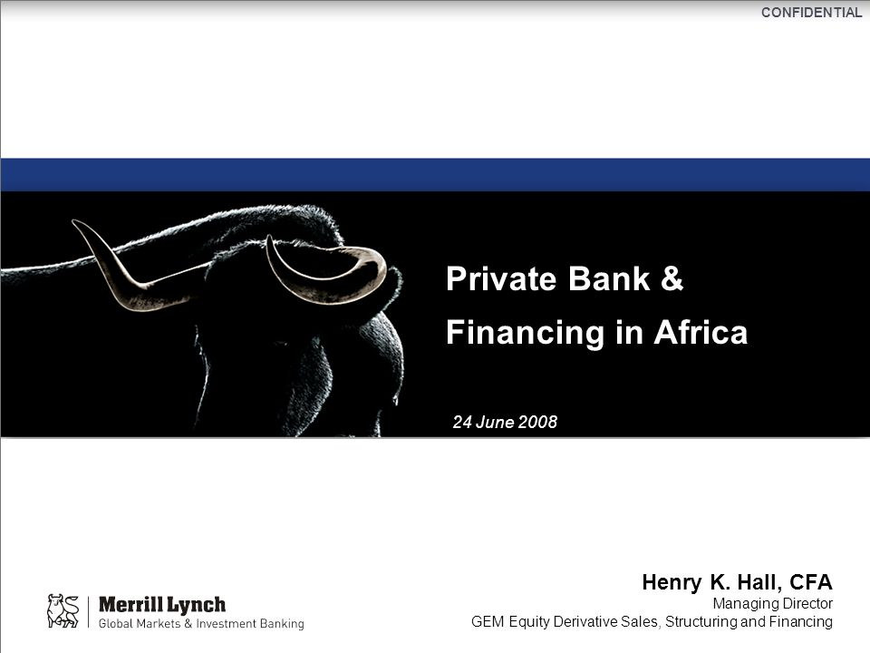 Private Bank & Financing in Africa