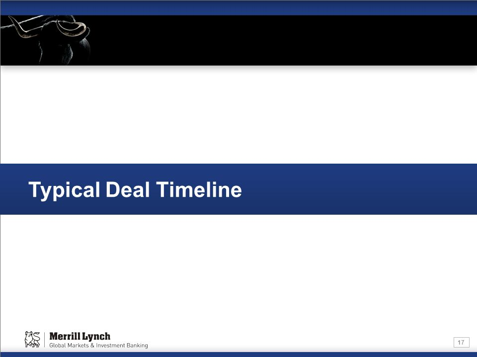 Typical Deal Timeline