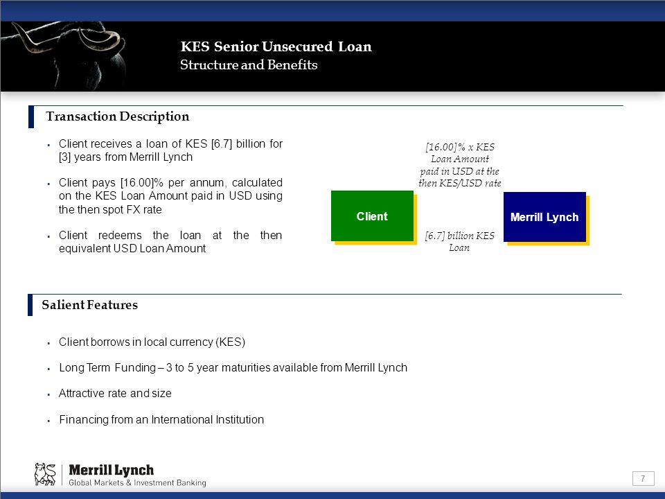 KES Senior Unsecured Loan