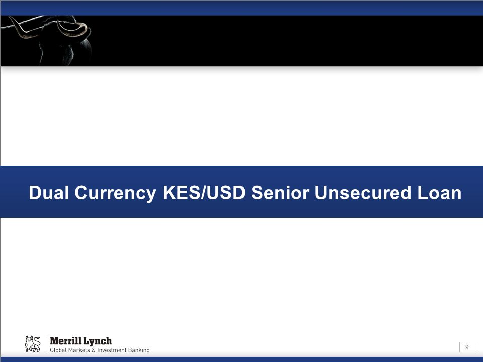 Dual Currency KES/USD Senior Unsecured Loan