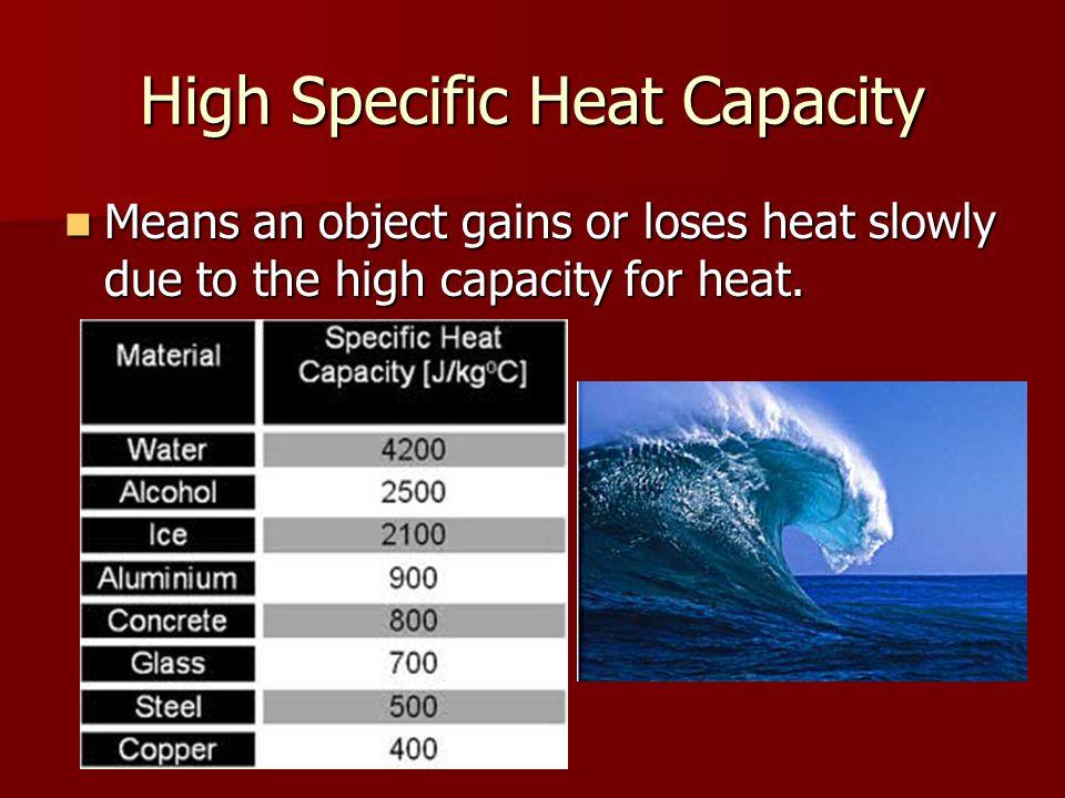 High Specific Heat Capacity
