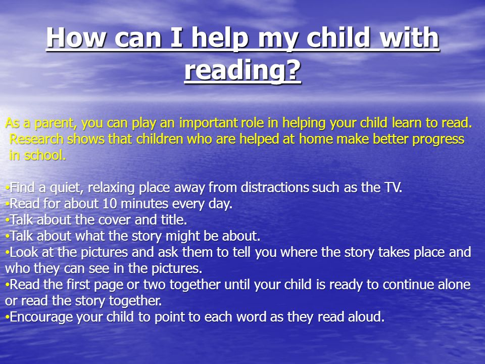 How can I help my child with reading