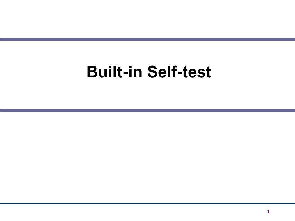 Built-in Self-test