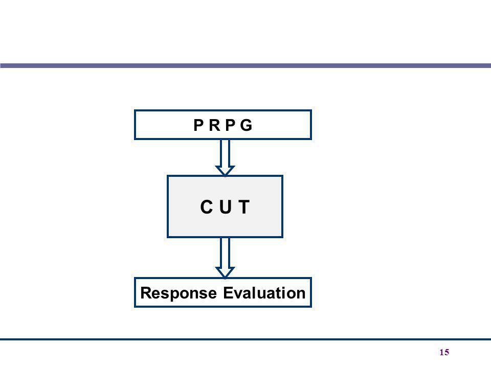 P R P G C U T Response Evaluation