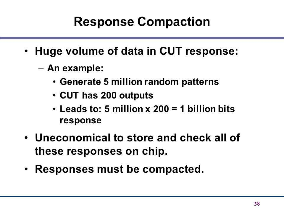 Response Compaction Huge volume of data in CUT response: