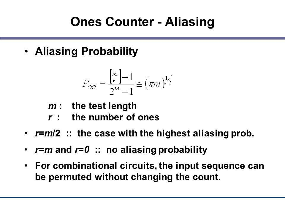 Ones Counter - Aliasing