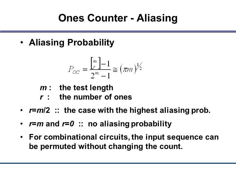 Ones Counter - Aliasing