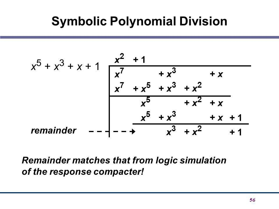 Symbolic Polynomial Division