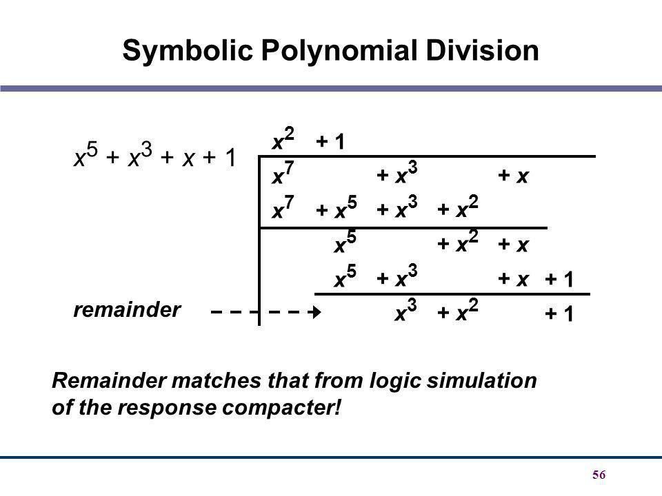 Symbolic Polynomial Division