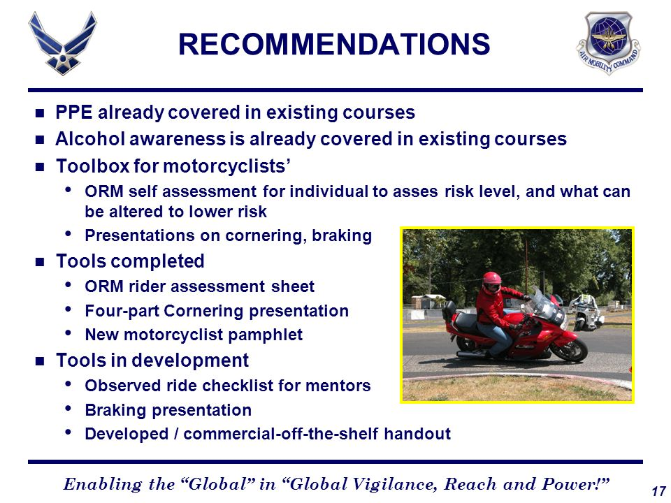 RECOMMENDATIONS PPE already covered in existing courses