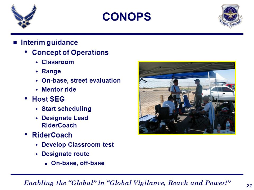 CONOPS Interim guidance Concept of Operations Host SEG RiderCoach