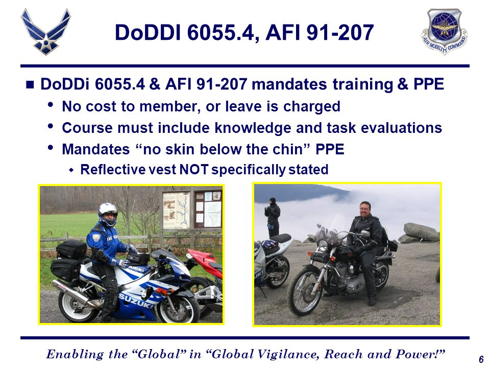 DoDDI 6055.4, AFI 91-207 DoDDi 6055.4 & AFI 91-207 mandates training & PPE. No cost to member, or leave is charged.
