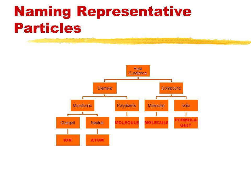 Naming Representative Particles