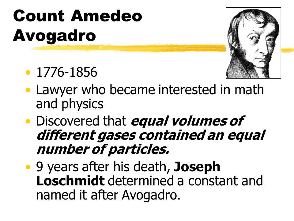 Count Amedeo Avogadro 1776-1856