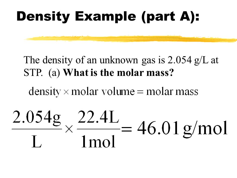 Density Example (part A):